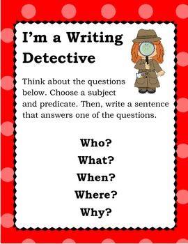 Writing Detective Poster - Polka dot