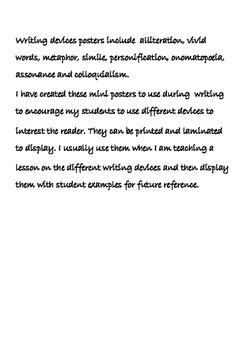 Writing Devices Mini Posters