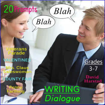 Writing Dialogue: 20 Printable Prompts (Grades 3-7)