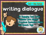 Writing Dialogue Task Cards