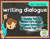 Writing Dialogue Task Cards