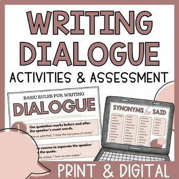 Writing Dialogue Practice Activities