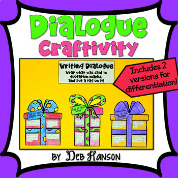 Writing Dialogue Craftivity (Quotation Marks)