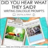 Writing Dialogue Photo Writing Prompts FREEBIE | Digital