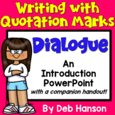 Writing Dialogue PowerPoint with Distance Learning Option