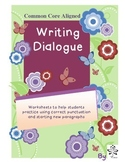 Writing Dialogue Practice Sheets