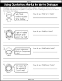 Writing Dialogue Using Quotation Marks