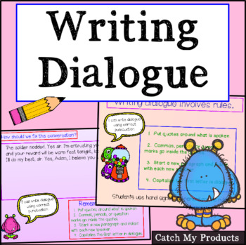 Writing Process : Dialogue For Promethean Board (Evaluation Ready Lesson)