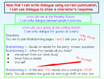 Writing Dialogue For PROMETHEAN Board