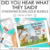 Writing Dialogue and Synonyms for Said Bundle | Print & Digital