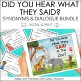 Writing Dialogue and Synonyms for Said Bundle | Print & Digital