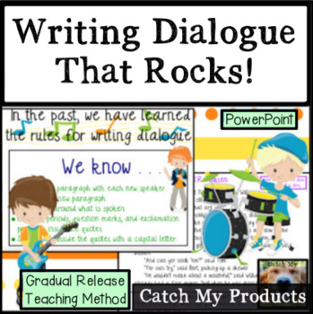 Writing Dialogue in the Writing Process : Power Point
