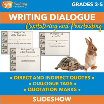 Writing Dialogue with Fables - Learning About Direct and Indirect Quotes