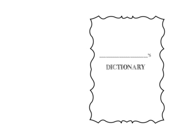 Writing Dictionary