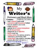 Writing Dictionary and more