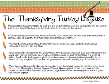 Writing Directions BUNDLE- Pumpkin Exchange, Turkey, Gingerbread, Snowman Switch