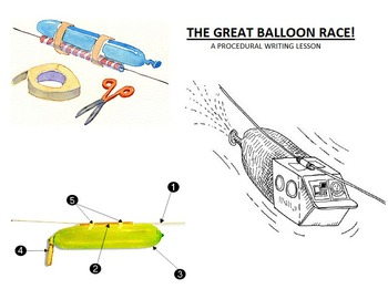 Writing Directions Balloon Racer Activity