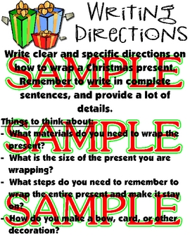 Writing Directions: How to Wrap a Christmas Present