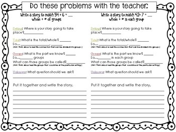 Writing Division Stories