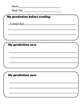 Writing Down Predictions
