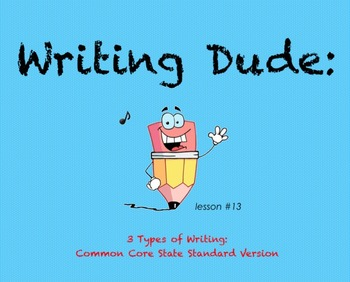 Writing Dude: 3 Types of Writing