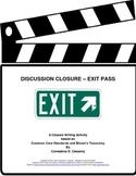 "Comprehension Assessment Activity - ""Exit Pass"""