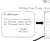 Writing Easy Essay Introductions