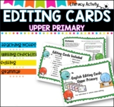 Writing Editing Cards- Upper Primary