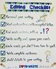 Writing Editing Checklist Anchor Chart (Large 25 x 30 chart)