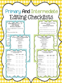 Writing Editing Checklist BUNDLE - Forms for Primary and I