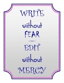 Writing, Editing Classroom Poster