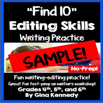 Writing, Editing Sample Freebie