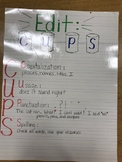 Writing Editing anchor chart