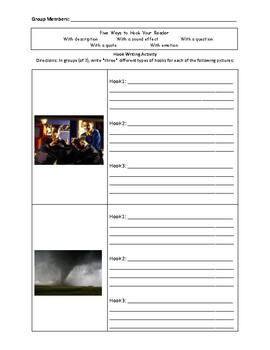 Writing Effective Hooks Activity