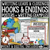 Writing Strong Leads for Introduction Paragraphs, Writing Hooks Activities
