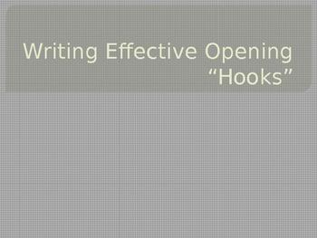 Writing Effective Opening Hooks