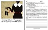 Writing Effective Paragraphs:  Literary Analysis, Evidence