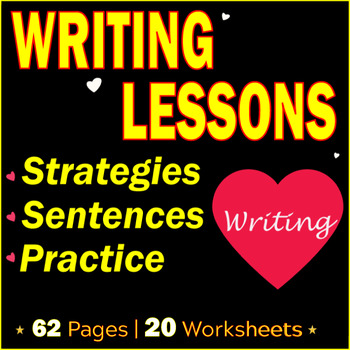 Writing Sentences Activities. 20 writing Lessons | Writing Strategies | Gr 7-8