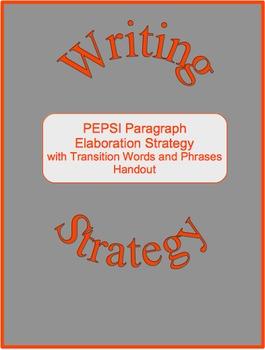 Writing Elaboration Strategy--PEPSI Paragraphs (Freebie)
