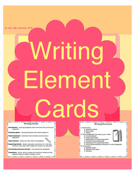 Writing Element Cards