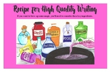 Recipe for High Quality Writing Poster