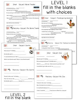 Writing Emails - Supports for Special Education Students
