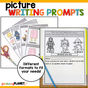 Visual Writing Prompts May/June for Writer's Workshop and Writing Centers