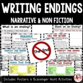 Writing Endings Posters & Scavenger Hunts