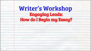 Writing Engaging Leads - Try Five!