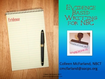 Writing Entries for National Board Certifcation