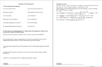 Writing Eq. Ib: Writing Equations