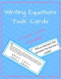 Writing Equation Task Cards