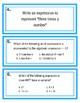 Writing Equation Task Cards