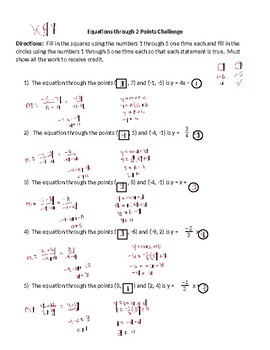 Writing Equations - 2 Points
